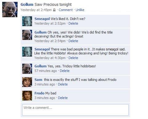 Facebook de O Senhor dos Anéis