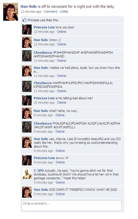 Facebook de Star Wars